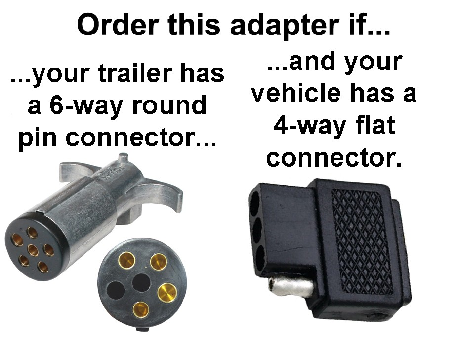 4-way Flat To 6-way Round Pin Connector Adapter