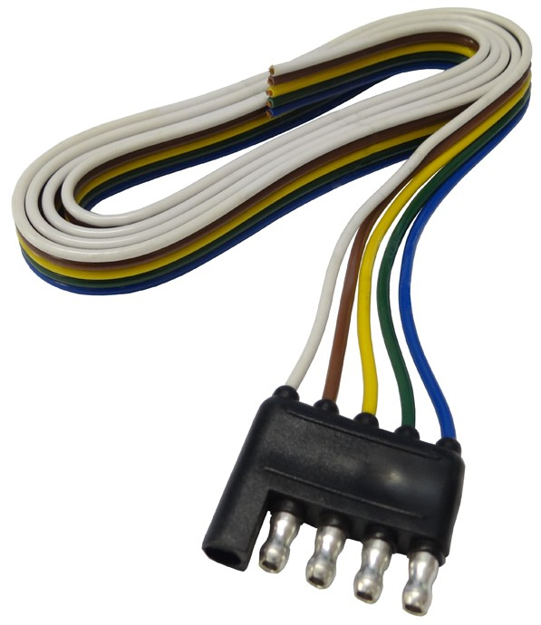48 U0026quot  Wire Harness - 5-way Flat Connector - Trailer End - Wire