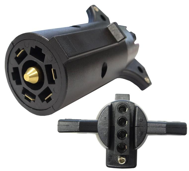 7-way Flat Pin To 5-way Flat Connector Adapter