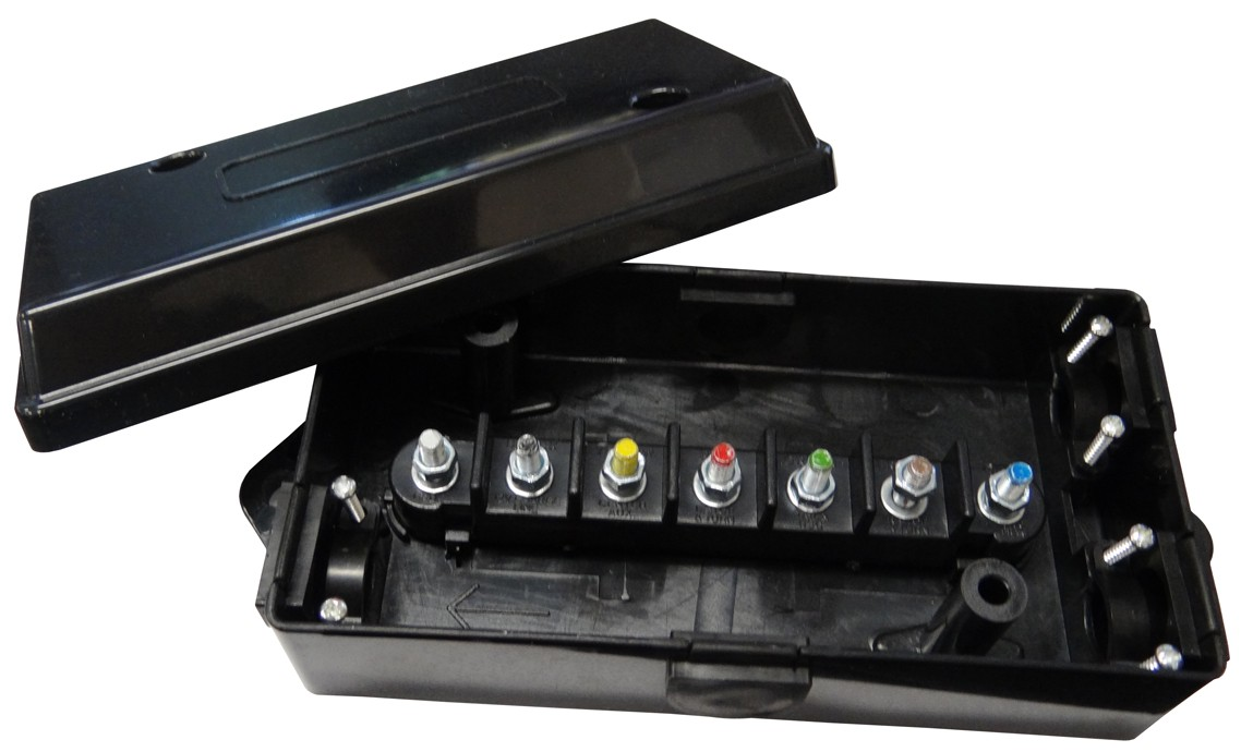 Electrical Junction Box - 7 Terminals - Wire - Wiring  Adapters  Connectors