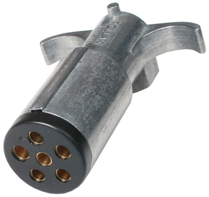 6-way Round Metal Trailer Wiring Connector