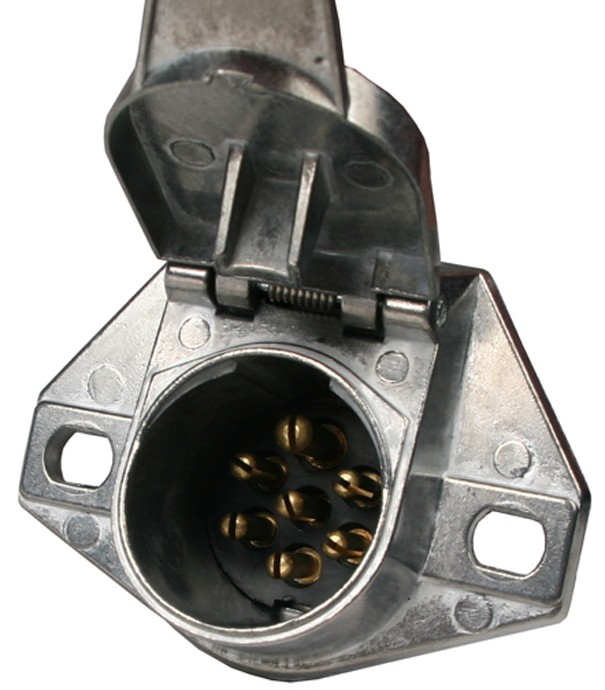 7-way Metal Round Trailer Wiring Connector