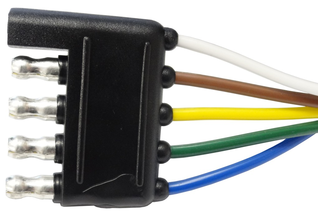 Round With Wire Harness Connectors : Quot wire harness way flat connector car and trailer