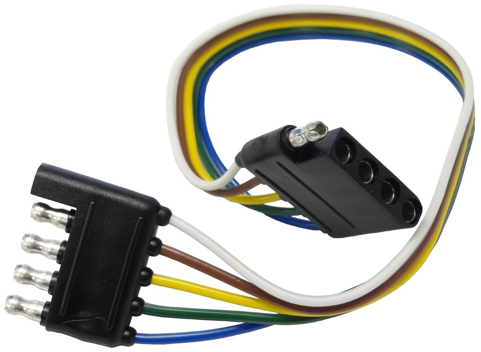 12 quot  wire harness 5 way flat connector car and trailer Ford Wiring Harness Kits Wiring Harness Diagram