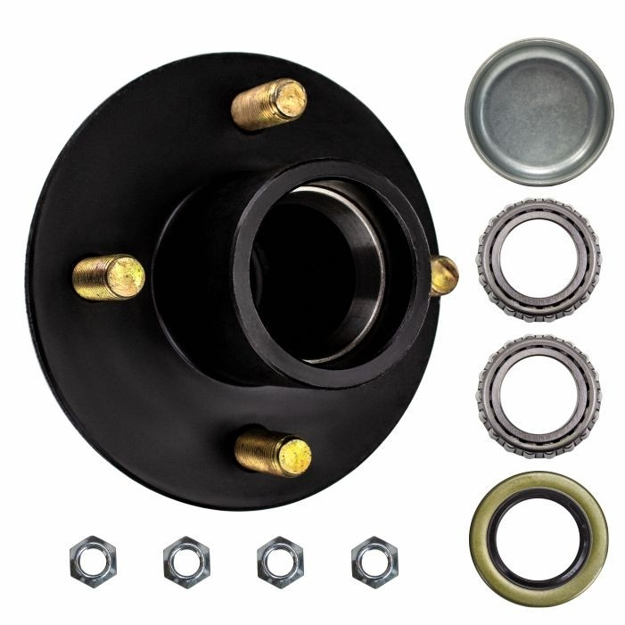 """4 Bolt on 4"""" Trailer Hub with 1"""" Bearings (L44643)"""