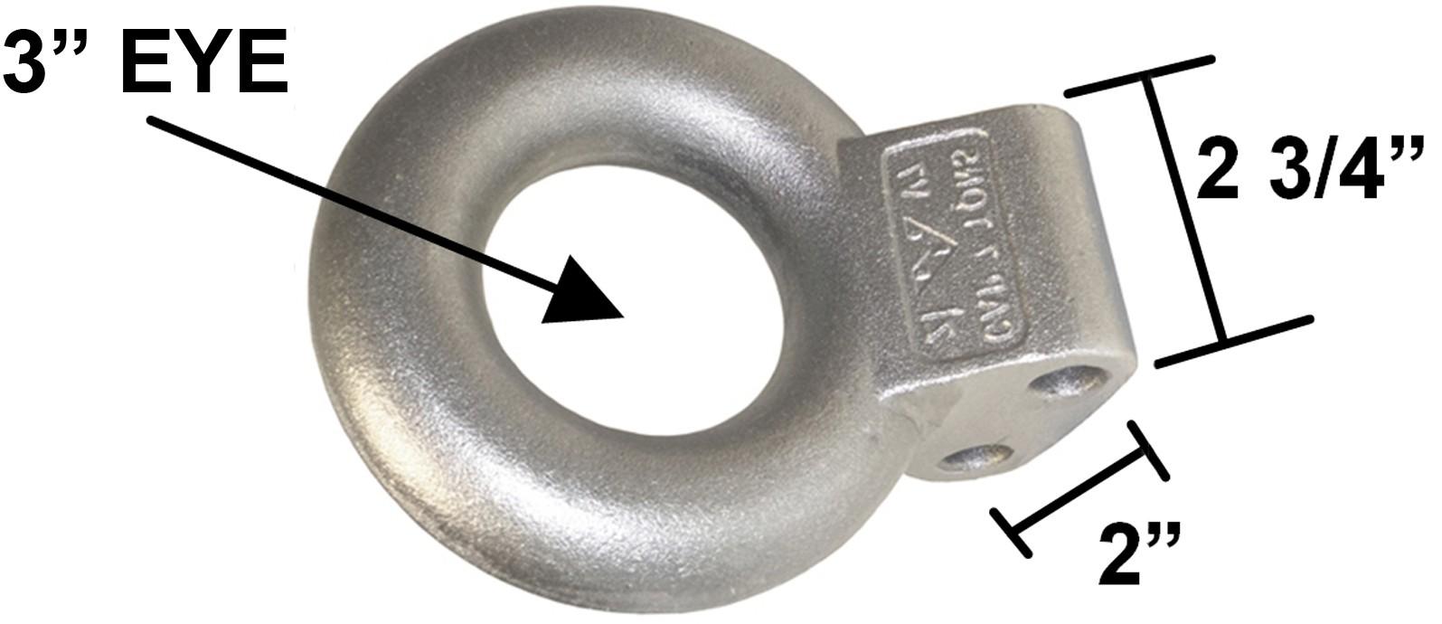 "Lunette Eye for Adjustable Channel - 3"" I.D. - 20,000 lbs."