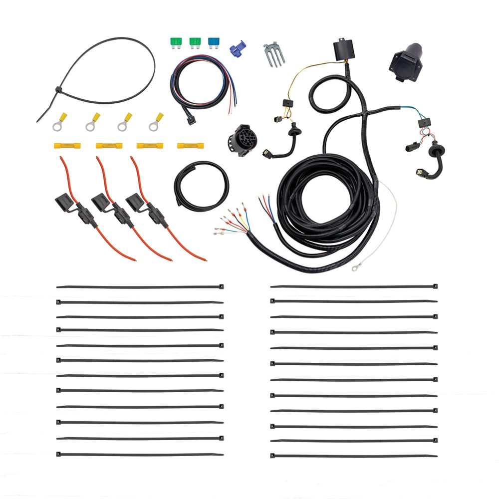 Tekonsha 22114 Tow Harness 7 Way Prep Kit Harnesses Ford Wiring Kits