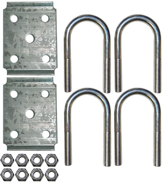 "Fits 2 3/8"" Round Axle U-Bolt Kit"