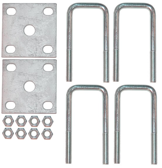 1 2 Square Axle U Bolt Kit With Galvanized Plates