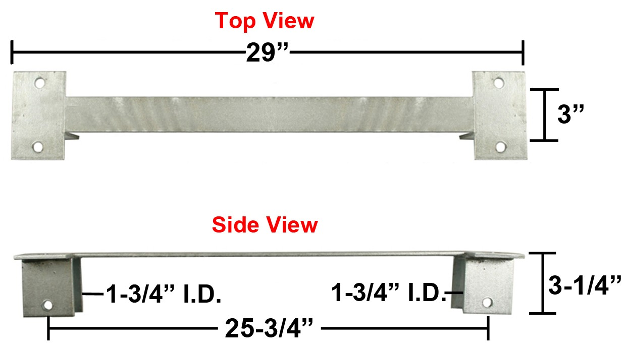 "Galvanized Spring Hanger - Single Axle - Accepts 26 1/2"" Open Eye Slipper Spring or Hook Up Slipper Spring"