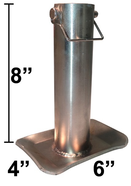"4"" x 6"" Jack Foot - 8"" Tall for 2"" Round Jacks"