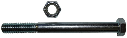 "1/2""-13 x 6 1/2"" Bolt and Nut - Zinc Plated"