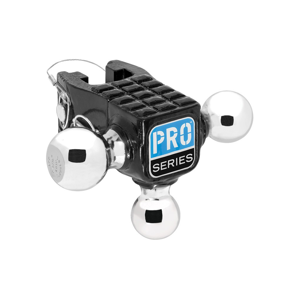"""Adjustable Tri-Ball Mount, 1 7/8"""" and 2"""" and 2 5/16"""" Chrome Balls, Pro Series brand"""