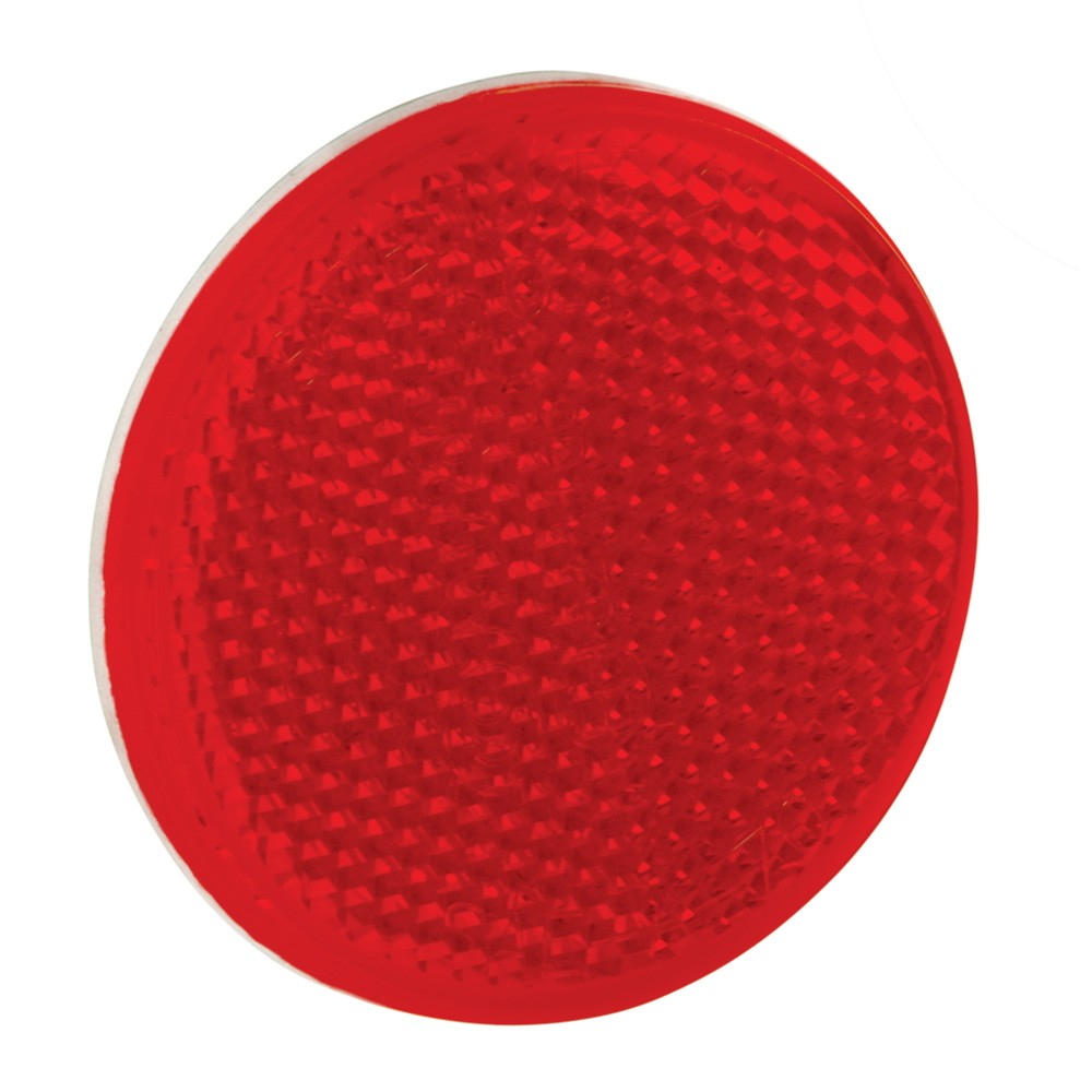 2-3//16 Round Amber Bargman 70-55-020 Reflector with Adhesive Mount