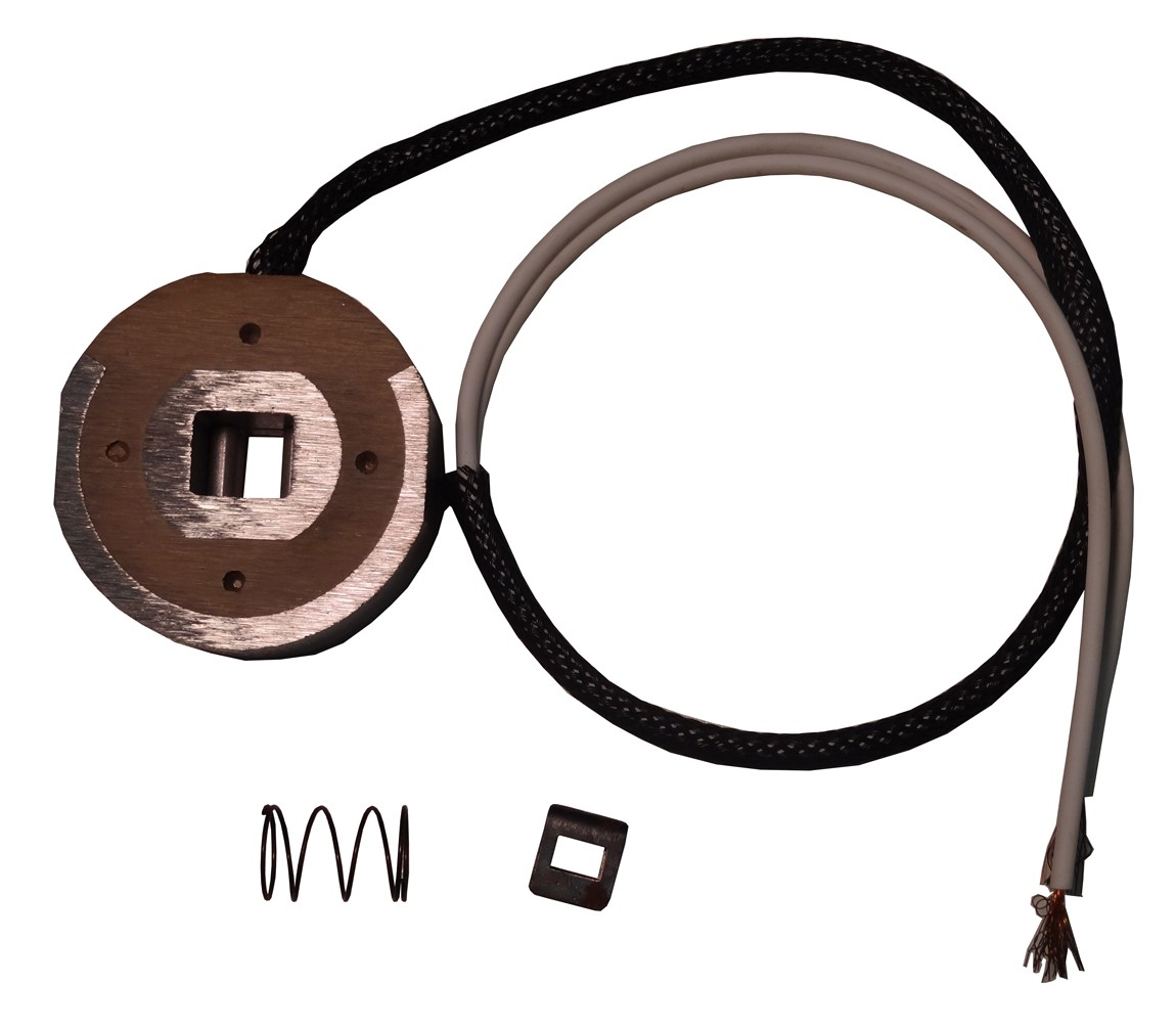 Magnet Kit with Clip & Spring (White Wire)