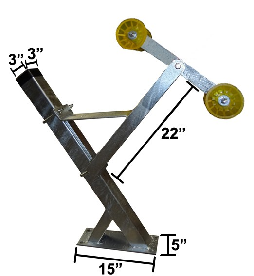 "3"" x 3"" x 36"" Galvanized Winchpost Assembly - Fits 3"" x 3"" Tongue - Will Accept Powerwinch®"