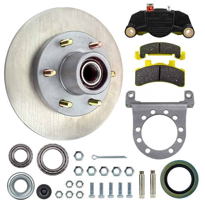 "Tie Down Engineering 11.5"" G5 Series Integral Disc Brake Assembly - 6 on 5 1/2"""" - Stainless Steel Rotor"
