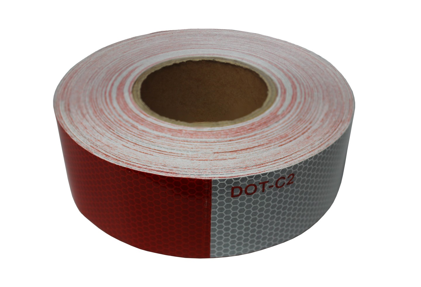 "Alternating 2"" x 150' Red and White Reflective Tape"