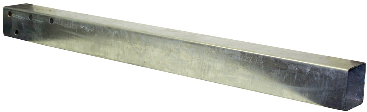 "Galvanized Trailer Tongue - 2"" x 3"" x 96"" - No Coupler"