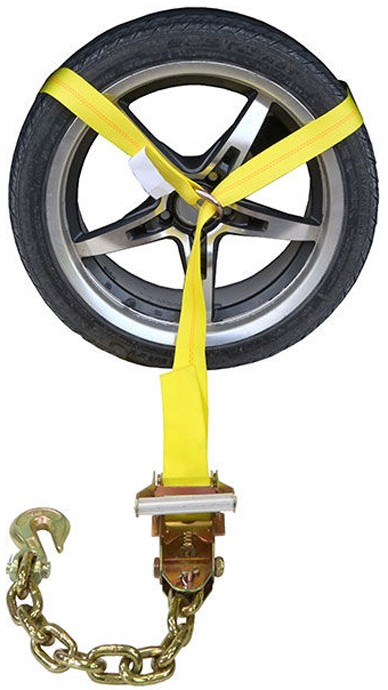Side Mount Wheel Net with Ratchet and Chain Extension