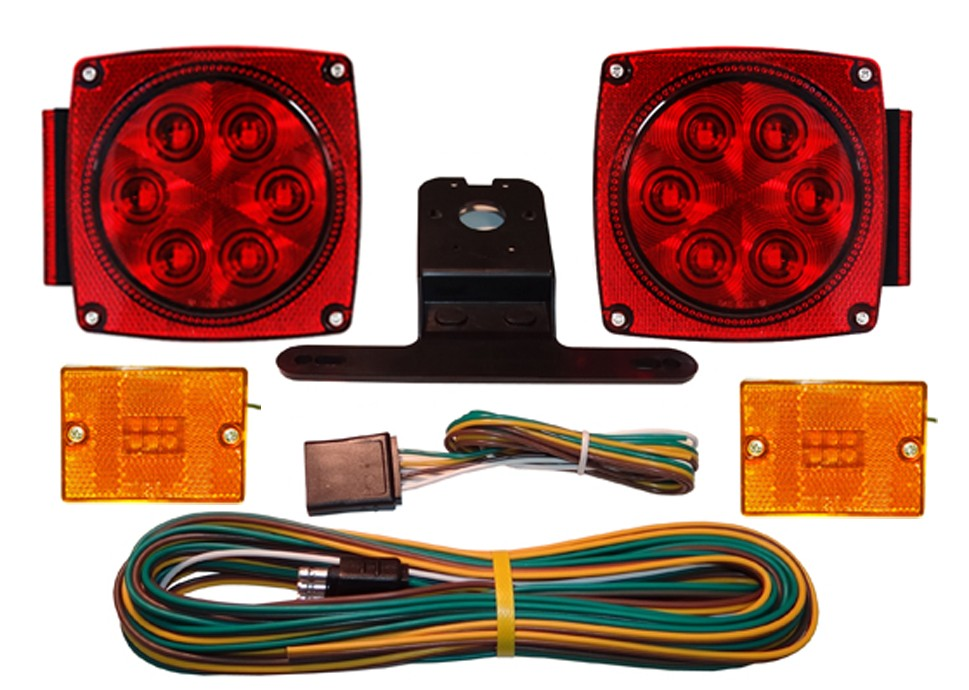 Submersible LED Light Kit with 20\' Wire Harness - Marker Lights ...