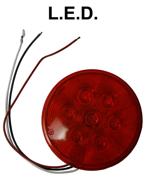 """LED 4"""" Tail Light with wire - Tail Lights - Lights - Products"""