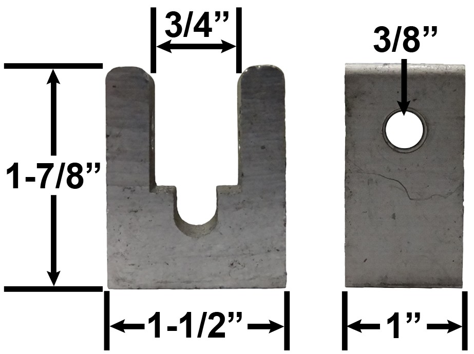 "1"" Wide Roller Pivot - Aluminum"