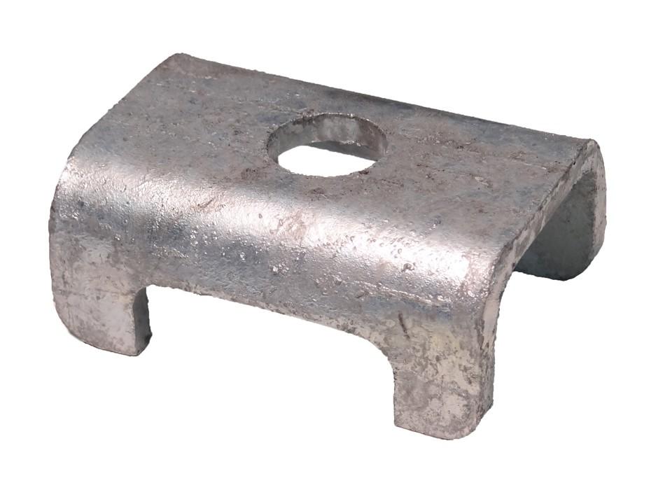 """Galvanized Spring Seat for 1 1/2"""" Square Galvanized Axles"""