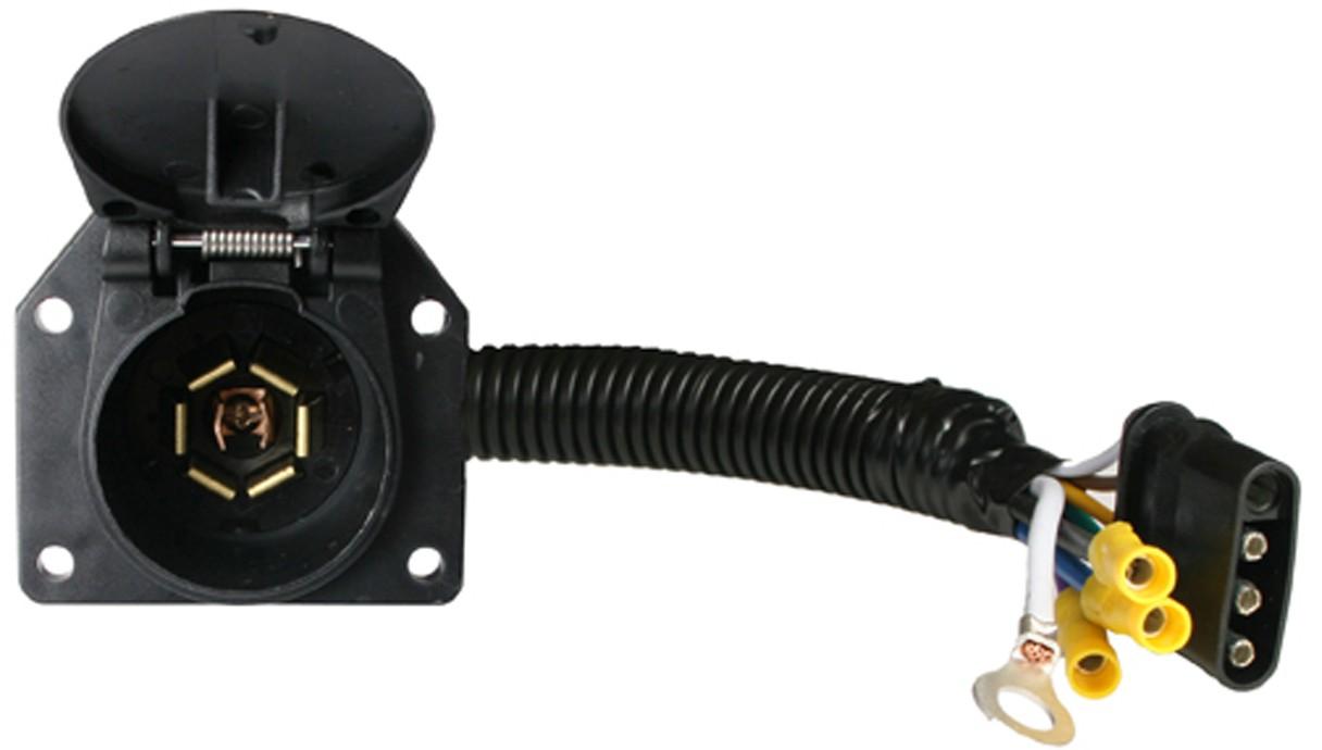 4-way flat to 7-way flat pin connector adapter - adapters ... chevy 7 pin wiring diagram 7 pin wiring adapter