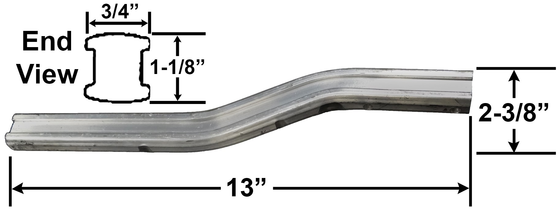 "13"" Wobble Roller Arm - Aluminum"