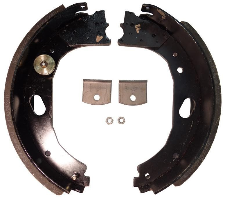 """Dexter® Brake Shoe and Lining Kit for 12 1/4"""" x 3 3/8"""" Stamped Backing Plate Electric Brake - Right Hand (Curb Side) - 8,000 to 10,000 lbs. GD"""