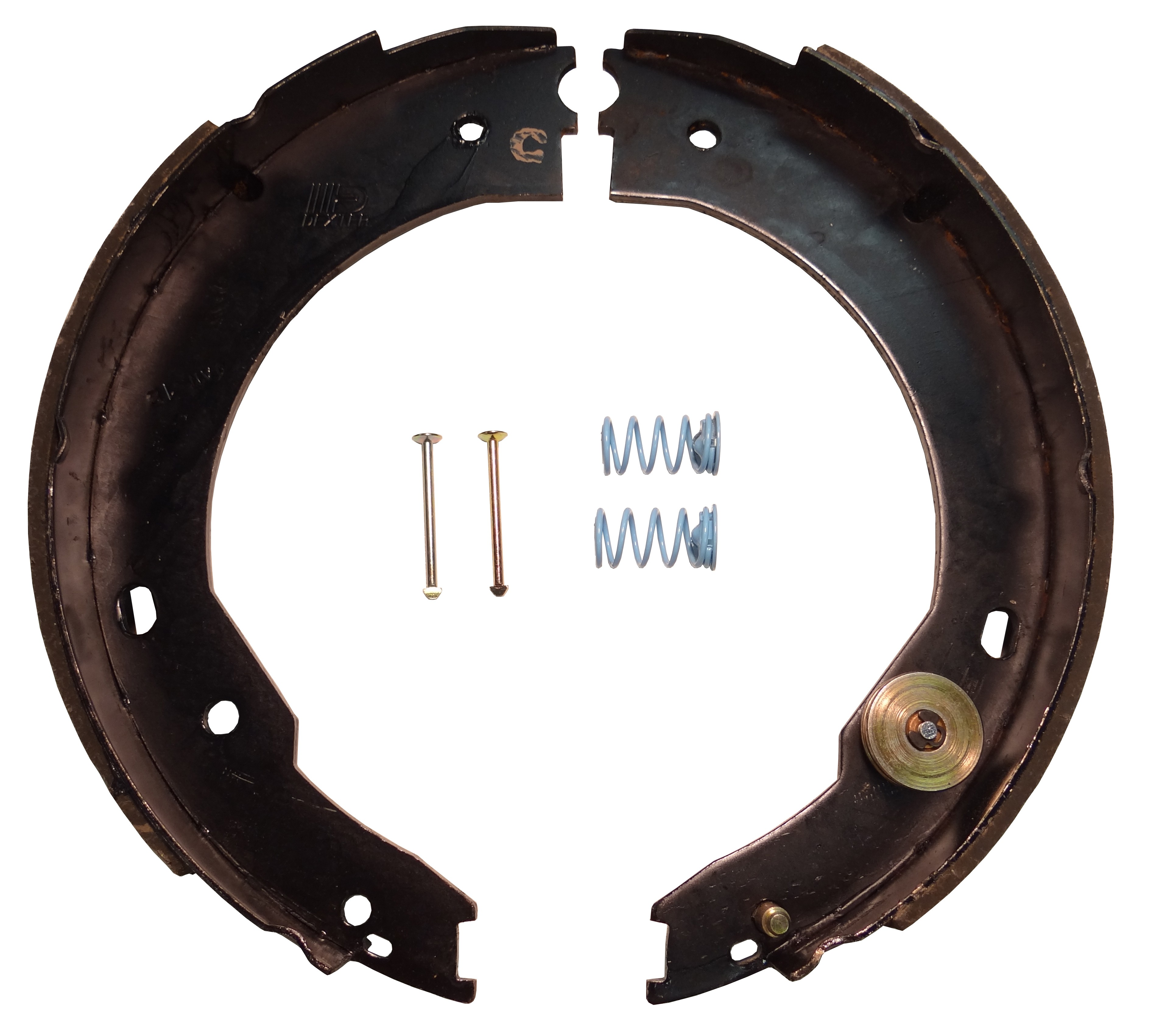 """Dexter® Self Adjusting Brake Shoe and Lining Kit for 12"""" x 2"""" Nev-R-Adjust® Electric Brake - Right Hand (Curb Side) - 7,000 lbs."""