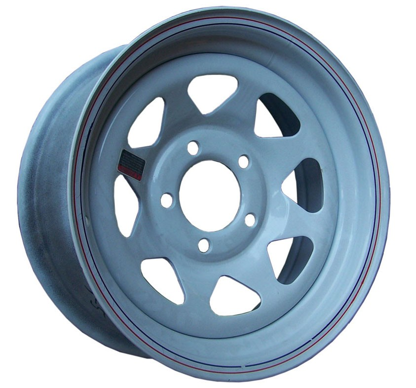 "15"" x 5"" Wide Painted Trailer Rim with 5 Lugs on 4 1/2"" Bolt Circle"