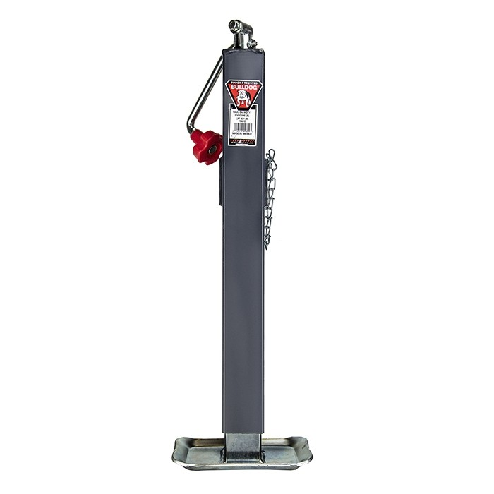 "Bulldog 5,000 lbs. Square Topwind Tubular Swivel Mount Jack (Square Tube) - 15"" Travel"