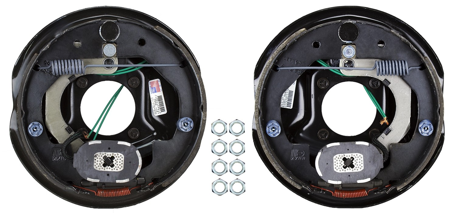 Dexter 10 X 2 25 Electric Trailer Brake Kit Left Right Hand Emblies 3 500 Lbs Axle Capacity
