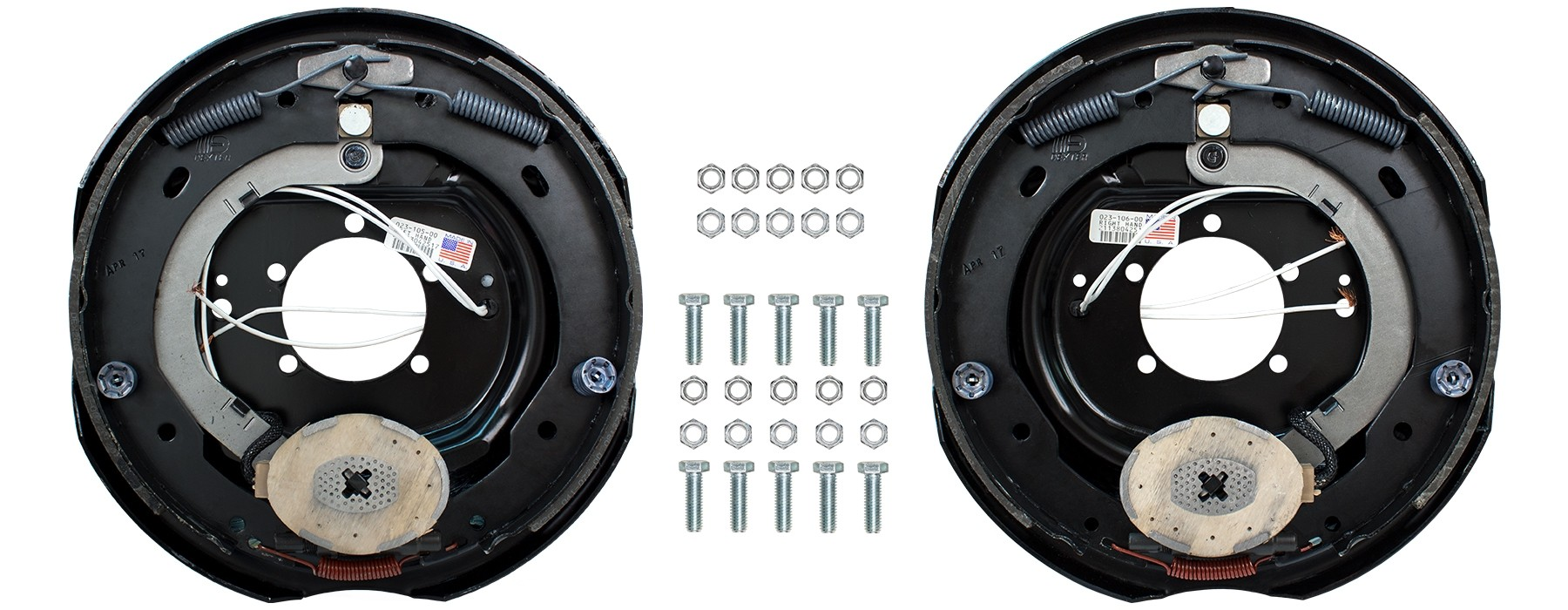 "Dexter 12"" x 2"" Electric Trailer Brake Kit - Left & Right Hand Assemblies - 6,000 lbs. Per Pair"