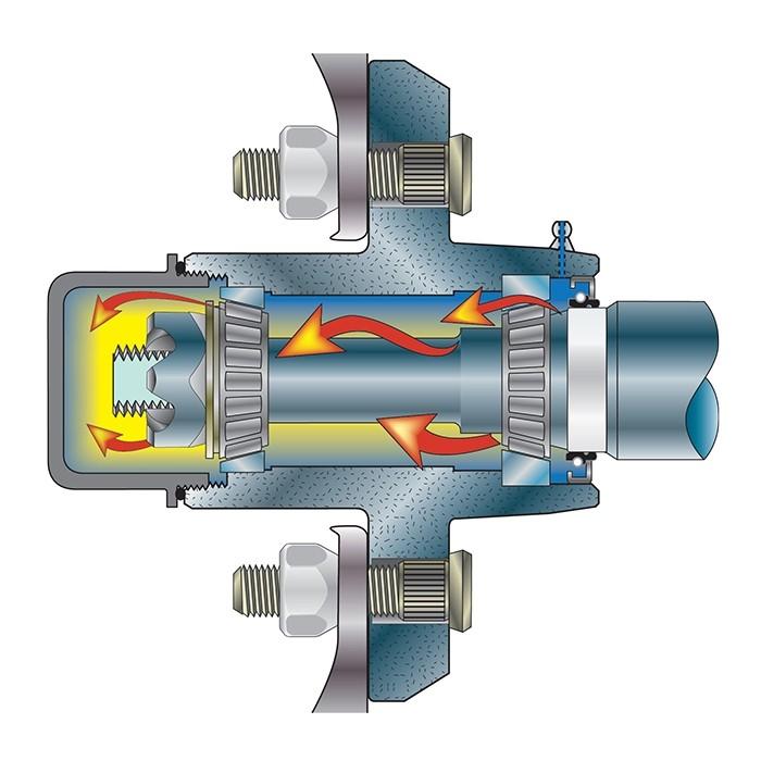 81017 Tie Down Vortex Hub 5 On 4 1 2 Bolt Circle 1 350 Lb Capacity