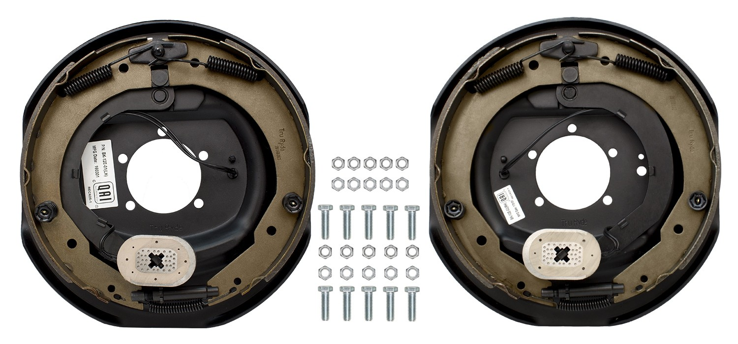 "TruRyde 12"" x 2"" Electric Trailer Brake Kit - Left & Right Hand Assemblies  - 7,000 lbs. Axle Capacity"