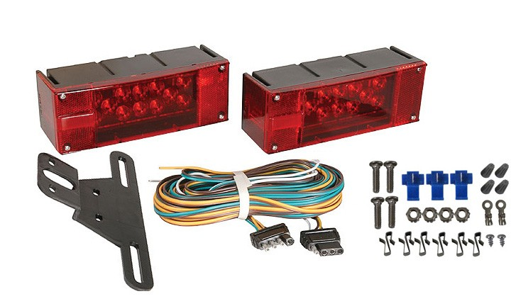 Submersible Low Profile LED Light Kit with 25\' Wire Harness for ...