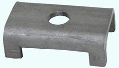 "Galvanized Spring Seats for 2"" Square Galvanized Axles"