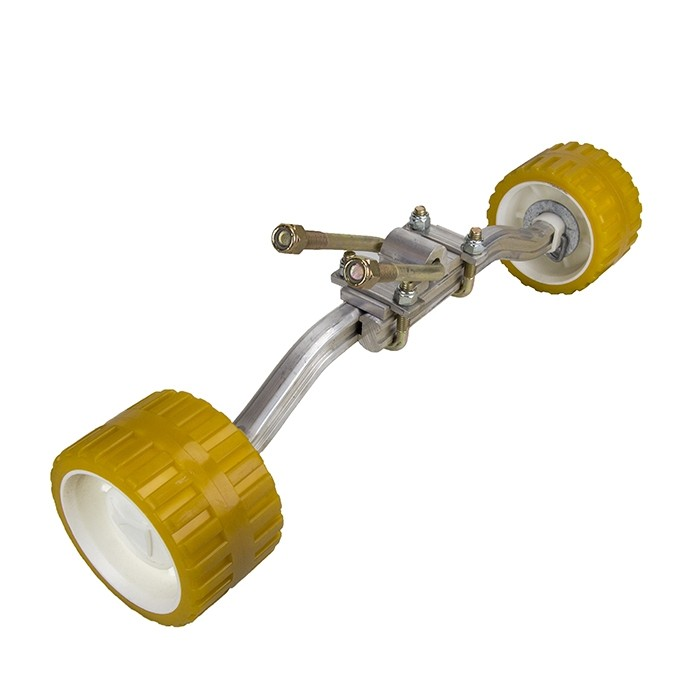 "Double Roller Assembly with Adjustable Arms - 3"" x 5"" x 1 3/8"" Rollers"