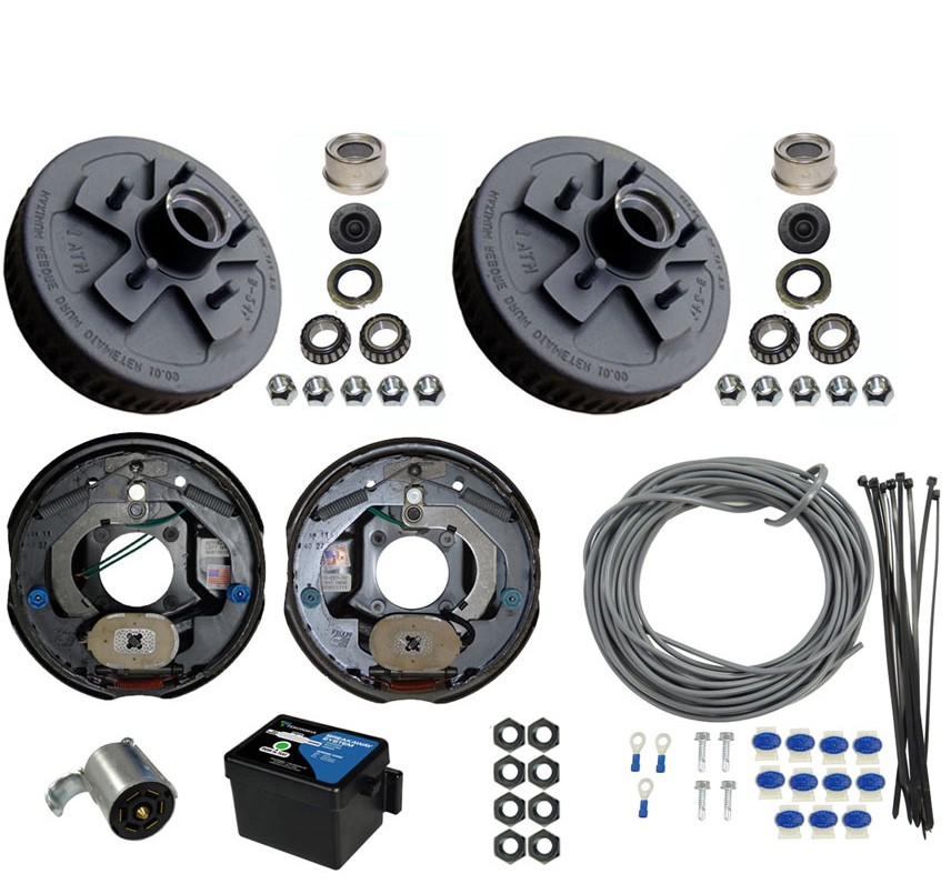 Single Axle Electric Brake Kit 10 5 Bolt Drum Brakes With Wire