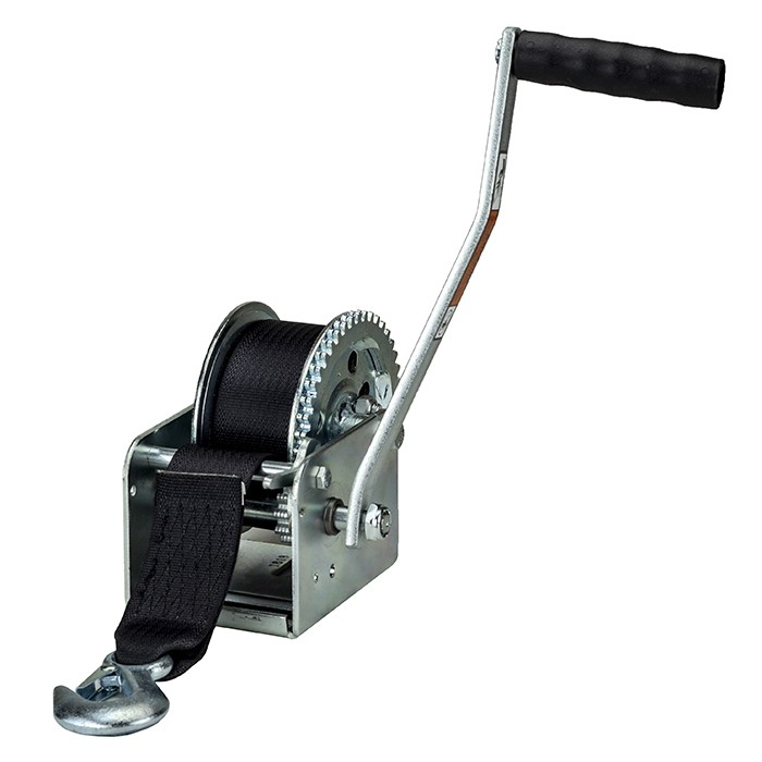 """Dutton-Lainson 1,400 lbs. Single Speed Hand Winch with 20' Strap - 9 1/2"""" Handle"""