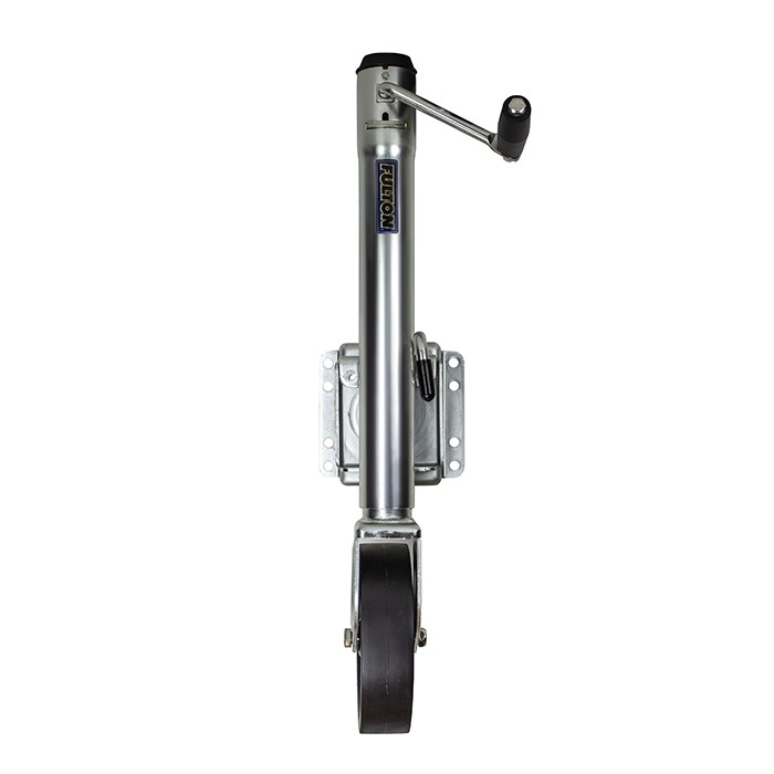 "Fulton 1,500 lbs Sidewind Bolt On Round Swivel Jack (8"" Single Wheel) - 12"" Travel"
