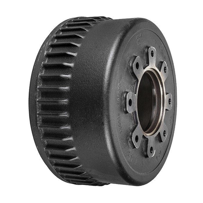8-Bolt on 6-1//2 Inch Bolt Circle 12 Inch Hub//Drum With Electric Brake Assembly Passenger Side