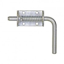 """Spring Latch with Keeper - 1/2"""" Shank - Zinc Plated"""