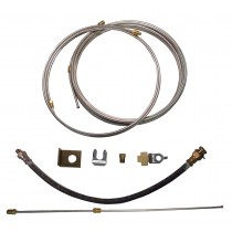 Single Axle Brake Line Kit with 20' Stainless Steel Line - For Drum Brakes