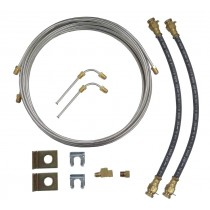 Single Axle Brake Line Kit with 20' Stainless Steel Line - For Disc Brakes