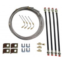 Tandem Axle Brake Line Kit  with 20' Stainless Steel Line - For Disc Brakes