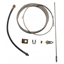 Single Axle Brake Line Kit with 25' Metal Line - For Drum Brakes